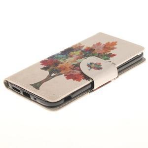 Obrázkové koženkové pouzdro na LG G5 - barevný strom - 3