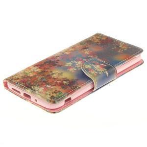 Obrázkové koženkové pouzdro na LG G5 - malované listí - 3