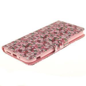 Obrázkové koženkové pouzdro na LG G5 - růže - 3
