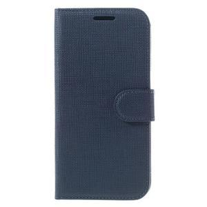 Cloth koženkové peněženkové pouzdro na LG G5 - tmavěmodré - 3