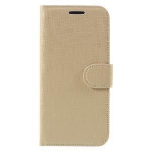 Cloth koženkové peněženkové pouzdro na LG G5 - béžové - 3
