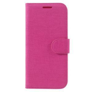 Cloth koženkové peněženkové pouzdro na LG G5 - rose - 3