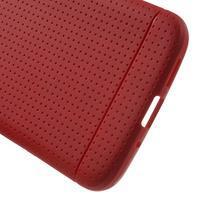 Rubby gelový kryt na LG G5 - červený - 3/5