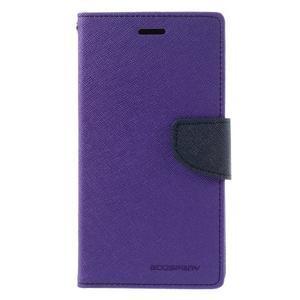Goos stylové PU kožené pouzdro na LG G5 - fialové - 3