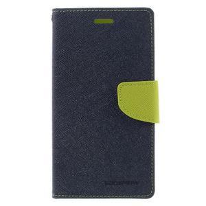 Goos stylové PU kožené pouzdro na LG G5 - modré - 3