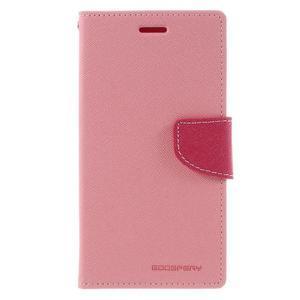 Goos stylové PU kožené pouzdro na LG G5 - růžové - 3