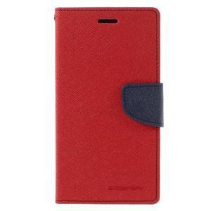 Goos stylové PU kožené pouzdro na LG G5 - červené - 3