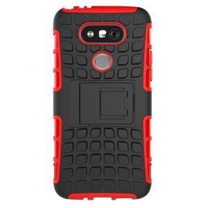 Outdoor odolný obal na mobil LG G5 - červený - 3