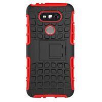 Outdoor odolný obal na mobil LG G5 - červený - 3/5