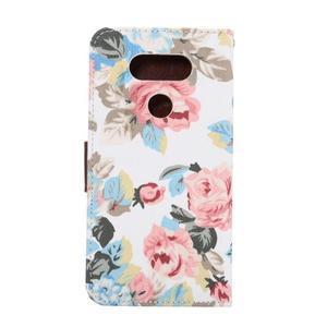 Květinové pouzdro na mobil LG G5 - bílý vzor - 3