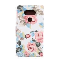 Květinové pouzdro na mobil LG G5 - bílý vzor - 3/7