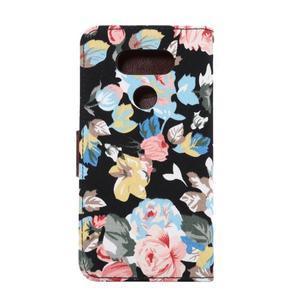 Květinové pouzdro na mobil LG G5 - černý vzor - 3