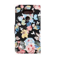 Květinové pouzdro na mobil LG G5 - černý vzor - 3/7