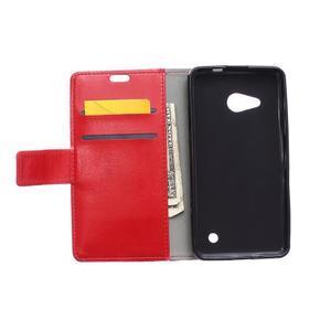 GX koženkové pouzdro na mobil Microsoft Lumia 550 - červené - 3