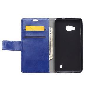 GX koženkové pouzdro na mobil Microsoft Lumia 550 - modré - 3