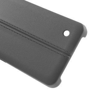 Lines gelový kryt se švy na Microsoft Lumia 550 - šedý - 3