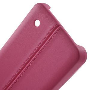 Lines gelový kryt se švy na Microsoft Lumia 550 - rose - 3