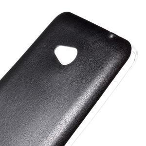 Gelový kryt s imitací kůže pro Microsoft Lumia 640 - černý - 3