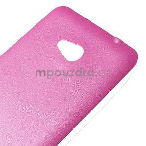 Gelový kryt s imitací kůže pro Microsoft Lumia 640 - rose - 3