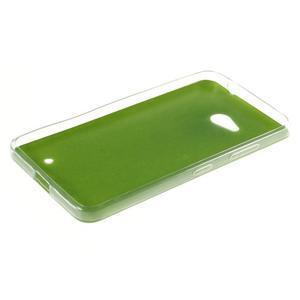 Gelový kryt s imitací kůže pro Microsoft Lumia 640 -  zelený - 3