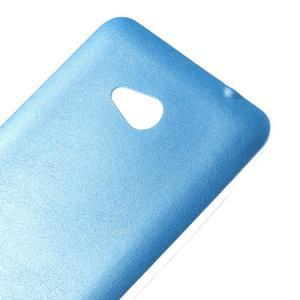 Gelový kryt s imitací kůže pro Microsoft Lumia 640 - modrý - 3