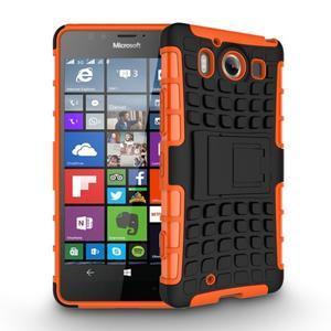 Outdoor odolný kryt na mobil Microsoft Lumia 950 - oranžový - 3