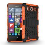 Outdoor odolný kryt na mobil Microsoft Lumia 950 - oranžový - 3/3