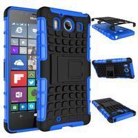 Outdoor odolný kryt na mobil Microsoft Lumia 950 - modrý - 3/3
