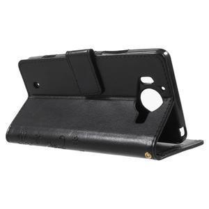 Buttefly PU kožené pouzdro na Microsoft Lumia 950 - černé - 3