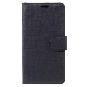 Cloth peněženkové pouzdro na mobil Microsoft Lumia 950 - černé - 3