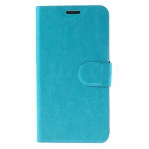 Horse PU kožené pouzdro na mobil Microsoft Lumia 950 - modré - 3