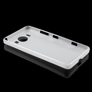 Matný gelový obal na Microsoft Lumia 950 - bílý - 3
