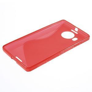 S-line gelový obal na mobil Microsoft Lumia 950 XL - červený - 3