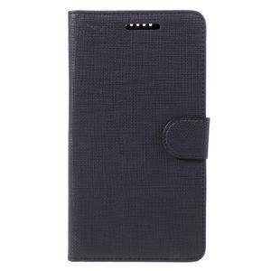 Cloth PU kožené pouzdro na mobil Microsoft Lumia 950 XL - černé - 3