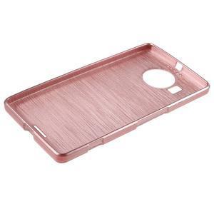 Brushed gelový obal na mobil Microsoft Lumia 950 XL - růžový - 3