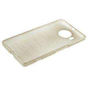 Brushed gelový obal na mobil Microsoft Lumia 950 XL - zlatý - 3