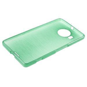 Brushed gelový obal na mobil Microsoft Lumia 950 XL - cyan - 3