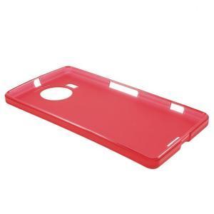 Matný gelový obal na mobil Microsoft Lumia 950 XL - červený - 3