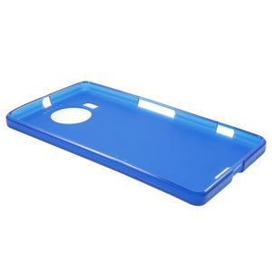 Matný gelový obal na mobil Microsoft Lumia 950 XL - modrý - 3