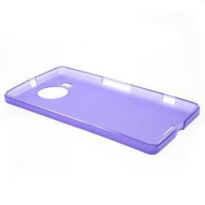 Matný gelový obal na mobil Microsoft Lumia 950 XL - fialový - 3