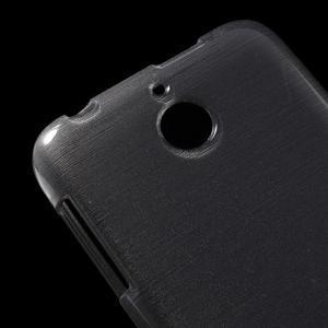 Brushed hladký gelový obal na HTC Desire 510 - šedý - 3