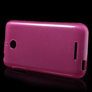 Brushed hladký gelový obal na HTC Desire 510 - rose - 3