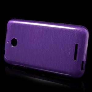 Brushed hladký gelový obal na HTC Desire 510 - fialový - 3