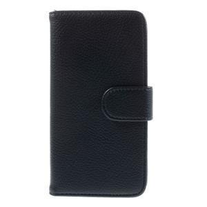 Folio PU kožené pouzdro na mobil HTC Desire 510 - tmavěmodré - 3