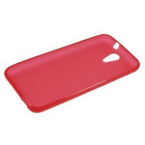 Matný gelový obal na mobil HTC Desire 620 - červený - 3