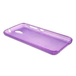 Brushed hladký gelový obal na HTC Desire 620 - fialový - 3