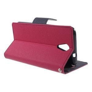 Diary PU kožené pouzdro na mobil HTC Desire 620 - rose - 3