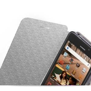 Modré PU kožené pouzdro na Huawei Y635 - 3
