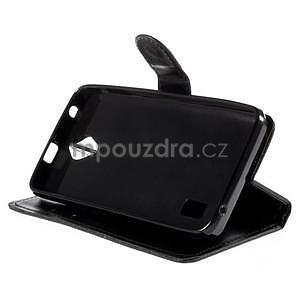 PU kožené černé pouzdro se zapínáním Huawei Y635 - 3