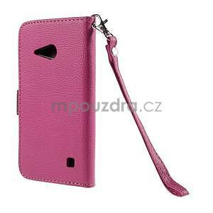 PU kožené pouzdro se zapínáním na Nokia Lumia 730/735 - rose - 3
